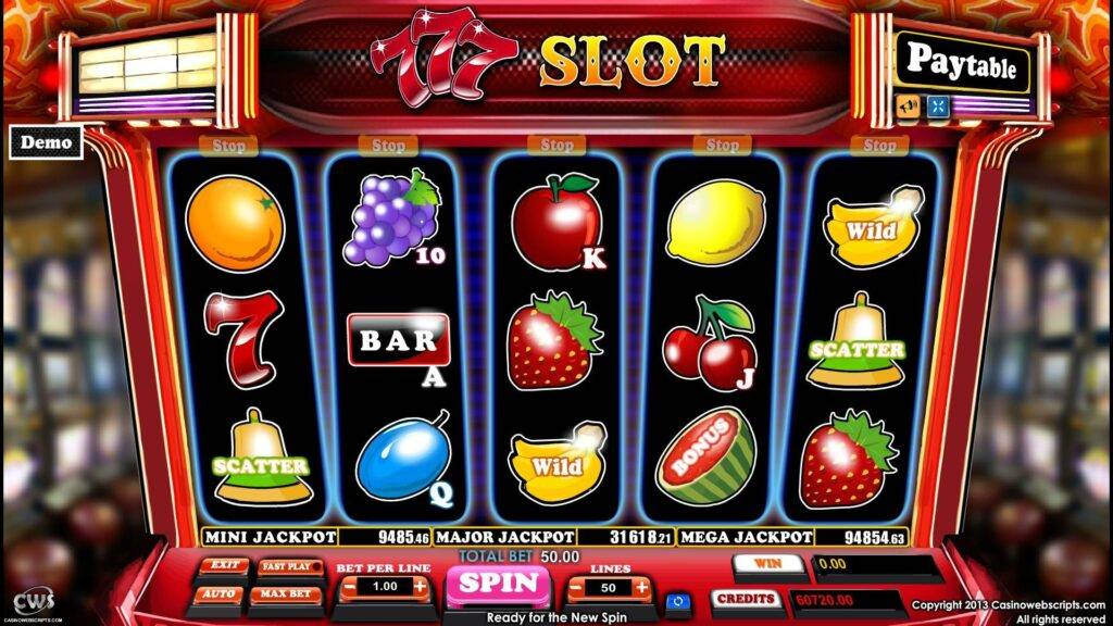 online slot machines win